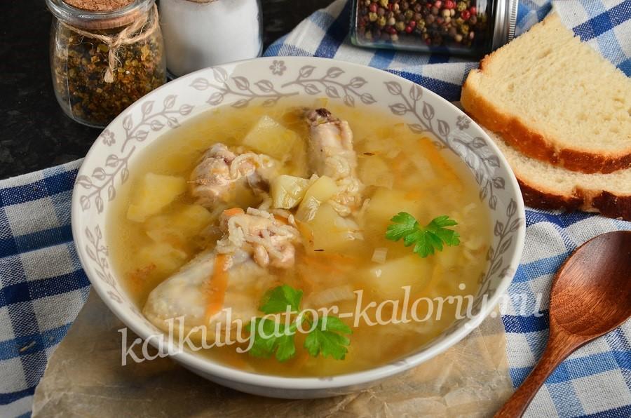 Рисовый суп с крылышками