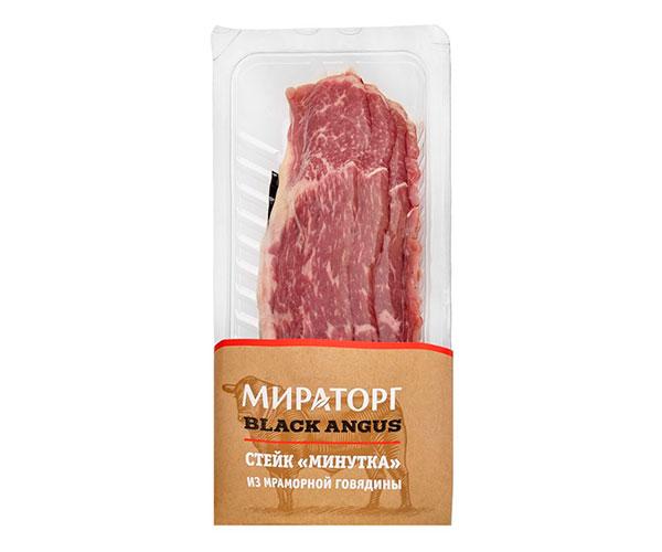 Стейк Минутка из мраморной говядины «Мираторг» Black Angus