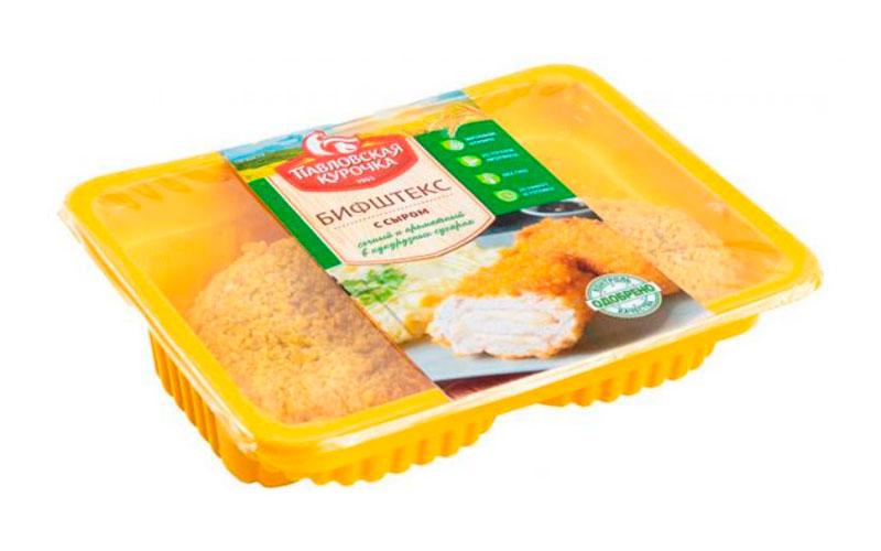 Бифштекс куриный с сыром охлажденный «Павловская курочка»