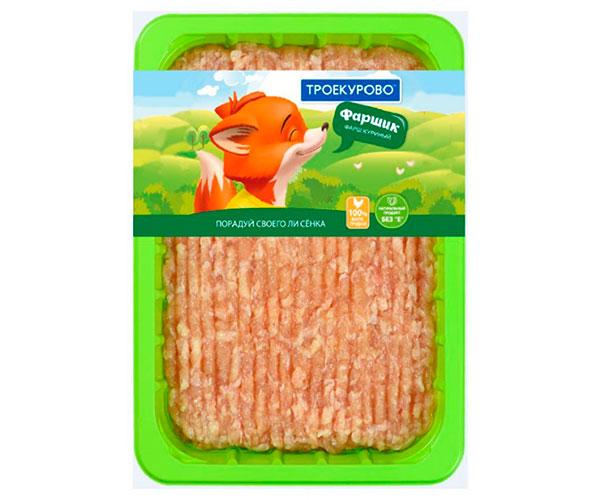 Фарш куриный из мяса цыплят-бройлеров охлажденный «Троекурово»