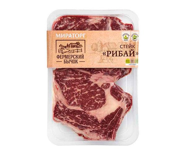 Стейк Рибай говяжий охлажденный «Мираторг»