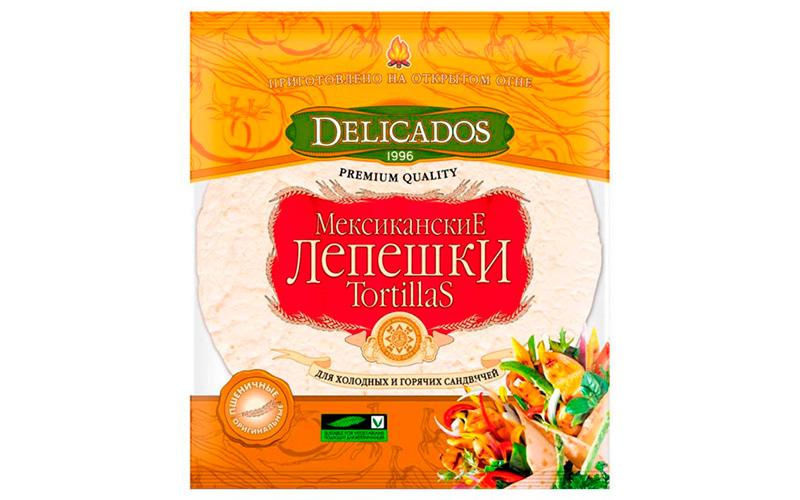 Лепешки Мексиканские Tortillas пшеничные Delicados
