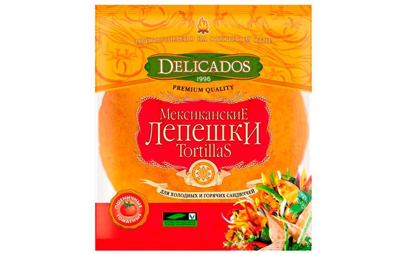 Лепешки Мексиканские Tortillas томатные пшеничные Delicados